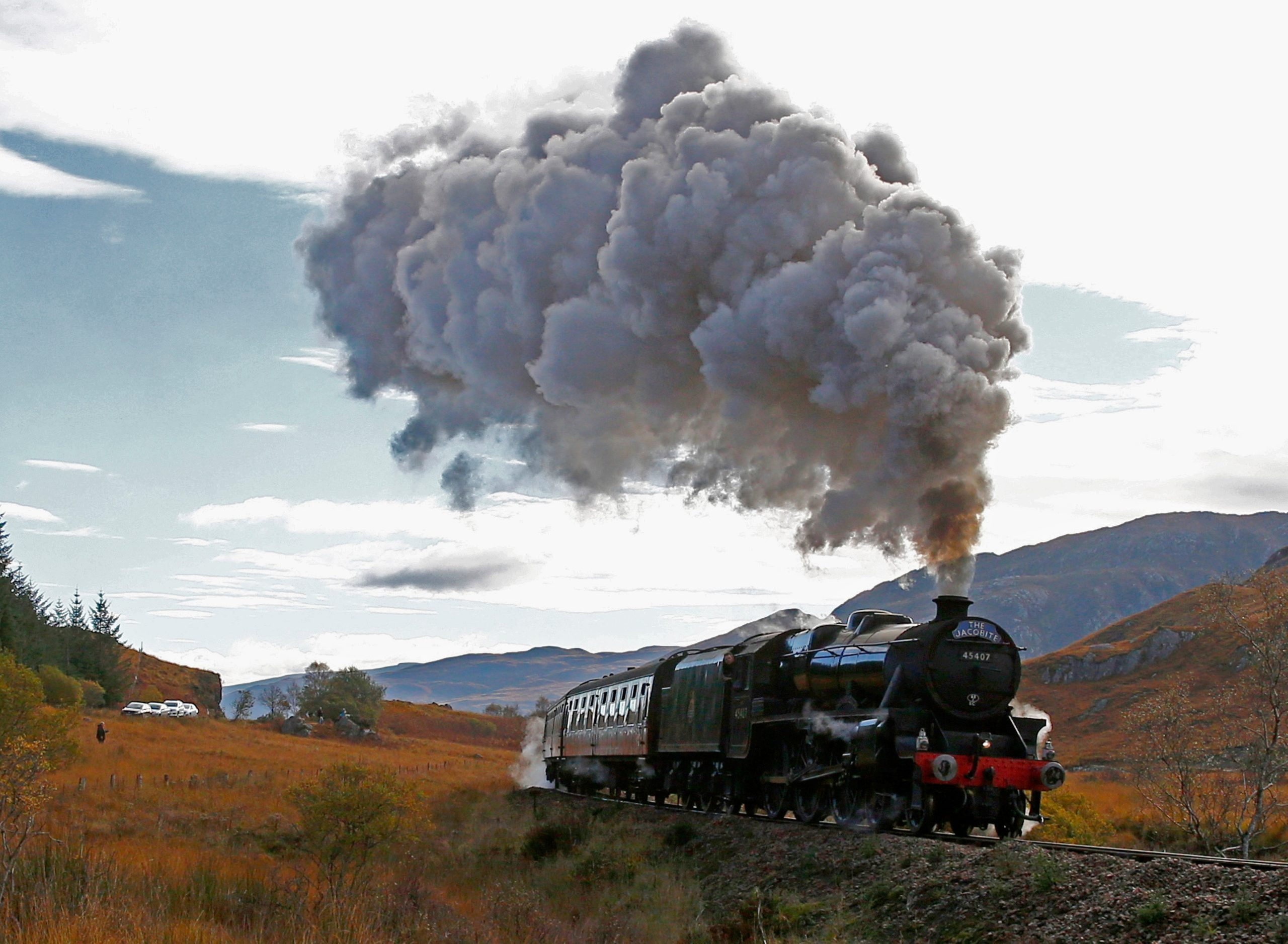 The Jacobite steam train LMS Stanier.