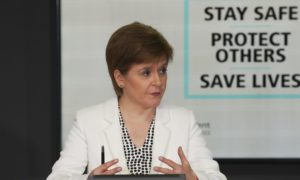 First Minister Nicola Sturgeon during Tuesday's briefing