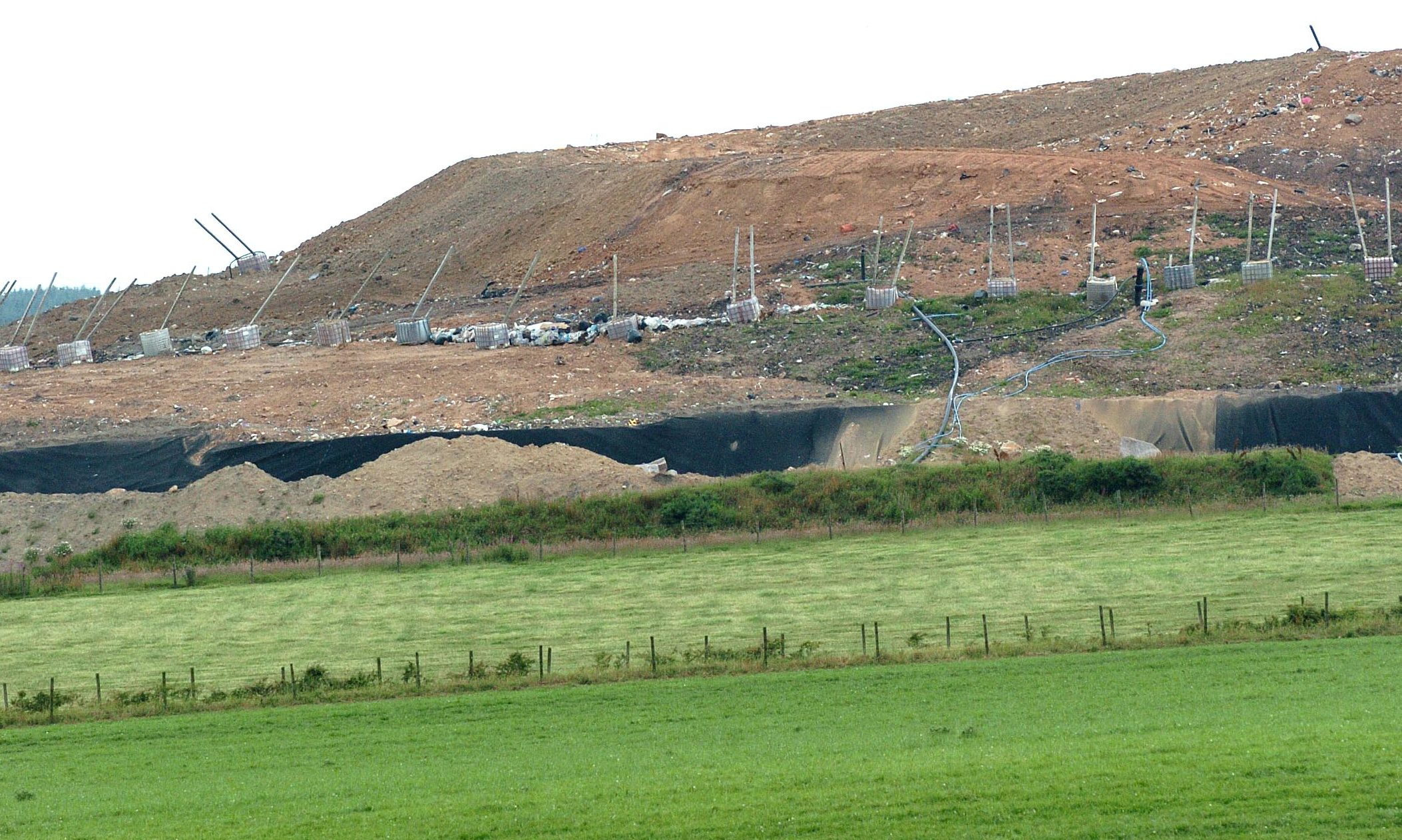 The Teuchan quarry provides clay for Stoneyhill landfill