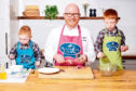 Leading Scottish chef Gary Maclean, pictured with his kids Harris and Finlay, is backing Quality Meat Scotland's Scotch Kitchen Classroom initiative.