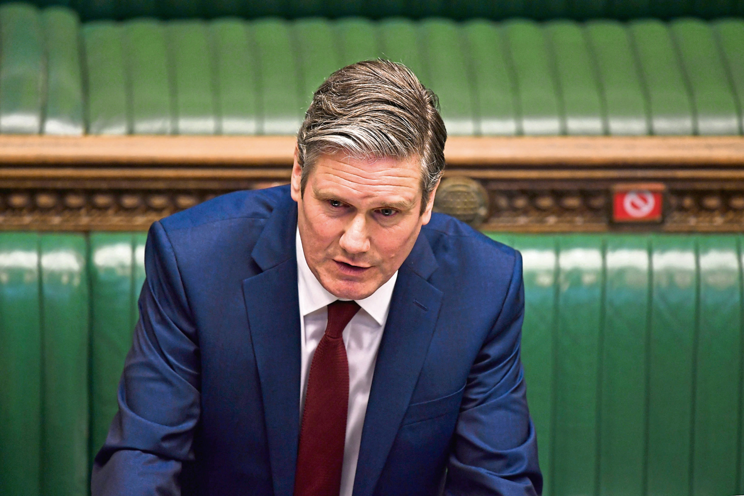 Sir Keir Starmer in parliament.