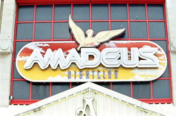 Amadeus nightclub in Aberdeen.