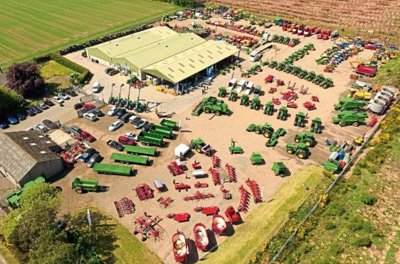 Netherton Tractors' depot near Forfar in Angus.