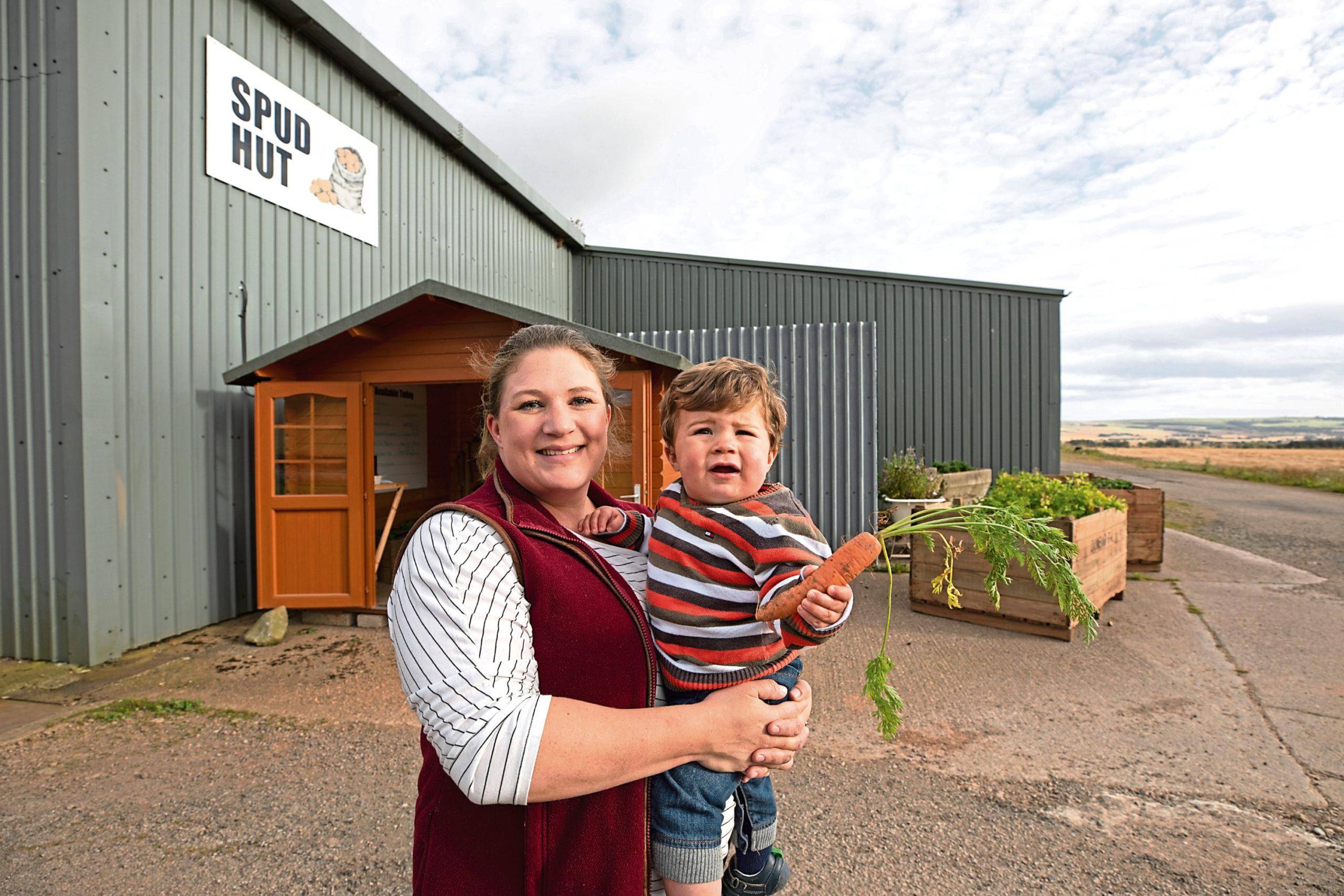 Fiona Smith with her son Mathew.