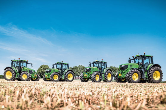 Some of the tractors in the range.