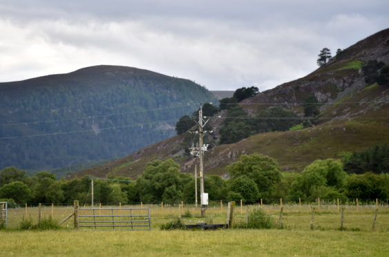 Fields behind Braemar Castle / Car park - Picture by Scott Baxter 08/07/2020
