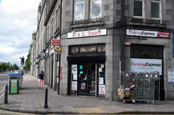 The cash machine is located outside of A&C Smart newsagents, at the junction of Urquhart Road and King Street