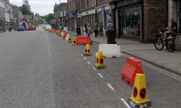 The social distancing measures in Banchory