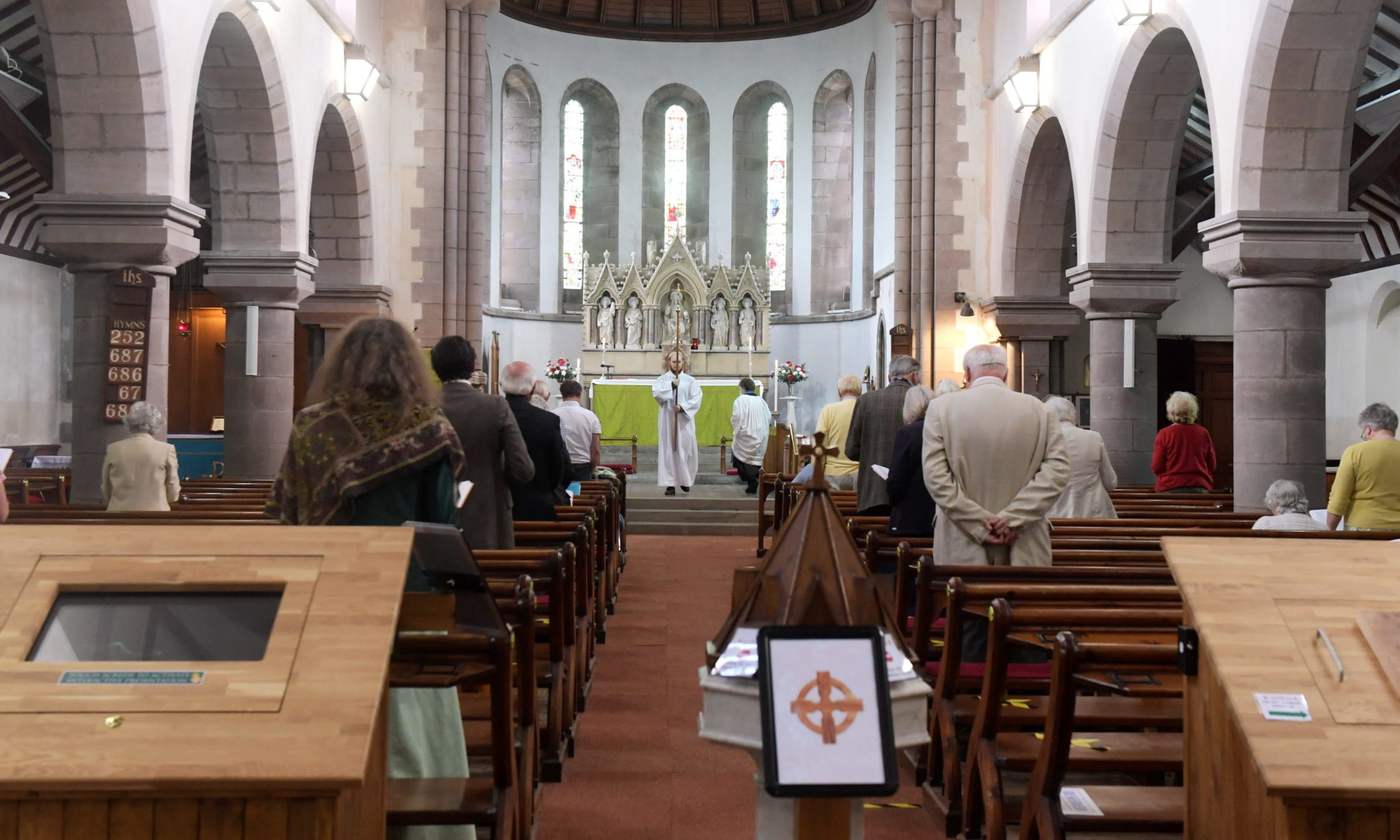 St James Episcopal Church in Stonehaven has resumed eucharistic services as Covid-19 lockdown restrictions are eased.   Picture by KATH FLANNERY