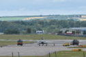 Typhoon at Aberdeen International Airport following emergency. Darrell Benns. 29/07/20.
