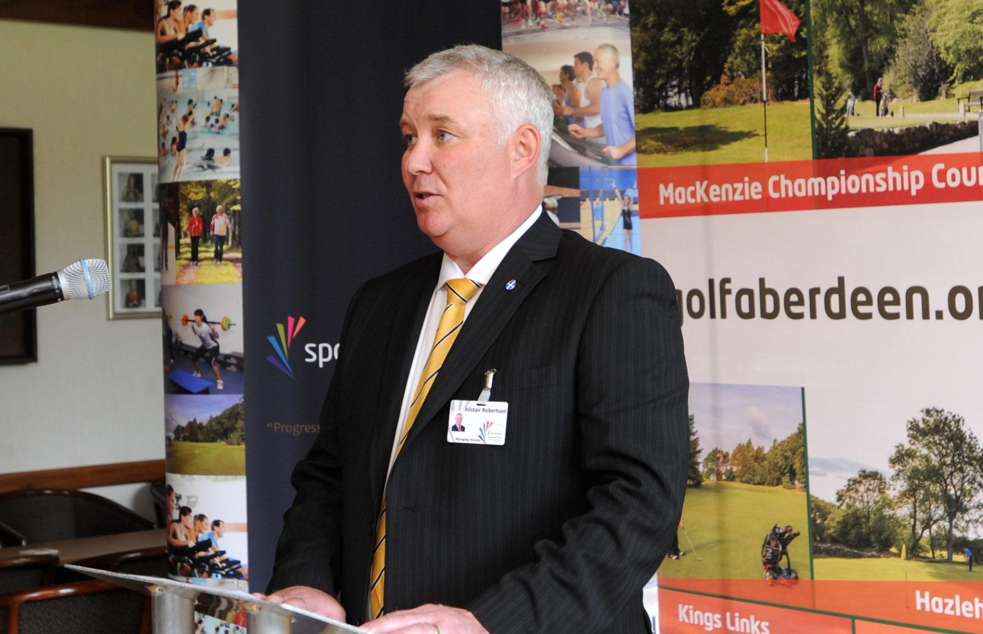 Alistair Robertson of Sport Aberdeen.