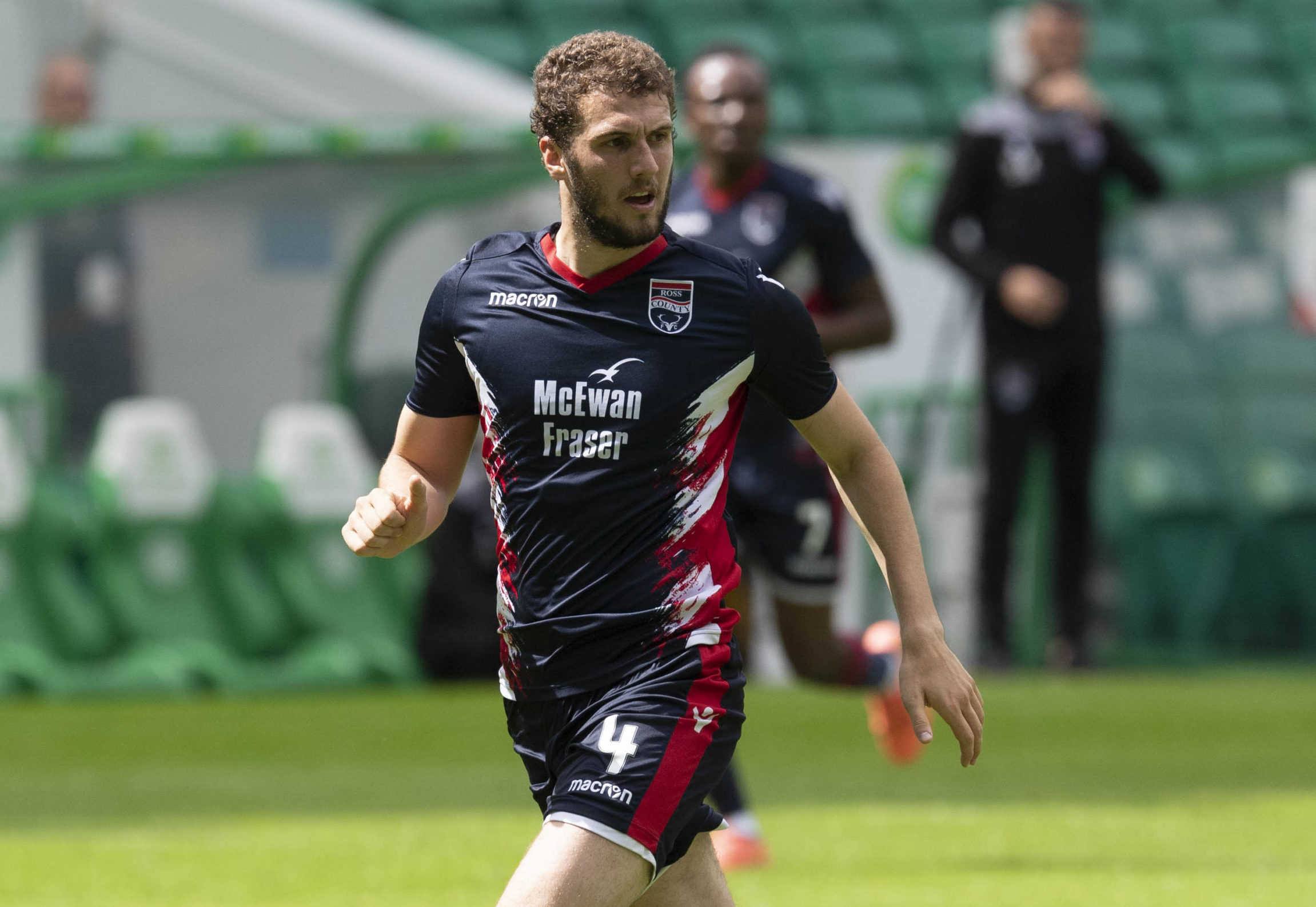 Alex Iacovitti in action for Ross County during a pre-season friendly match between Celtic and the Staggies.