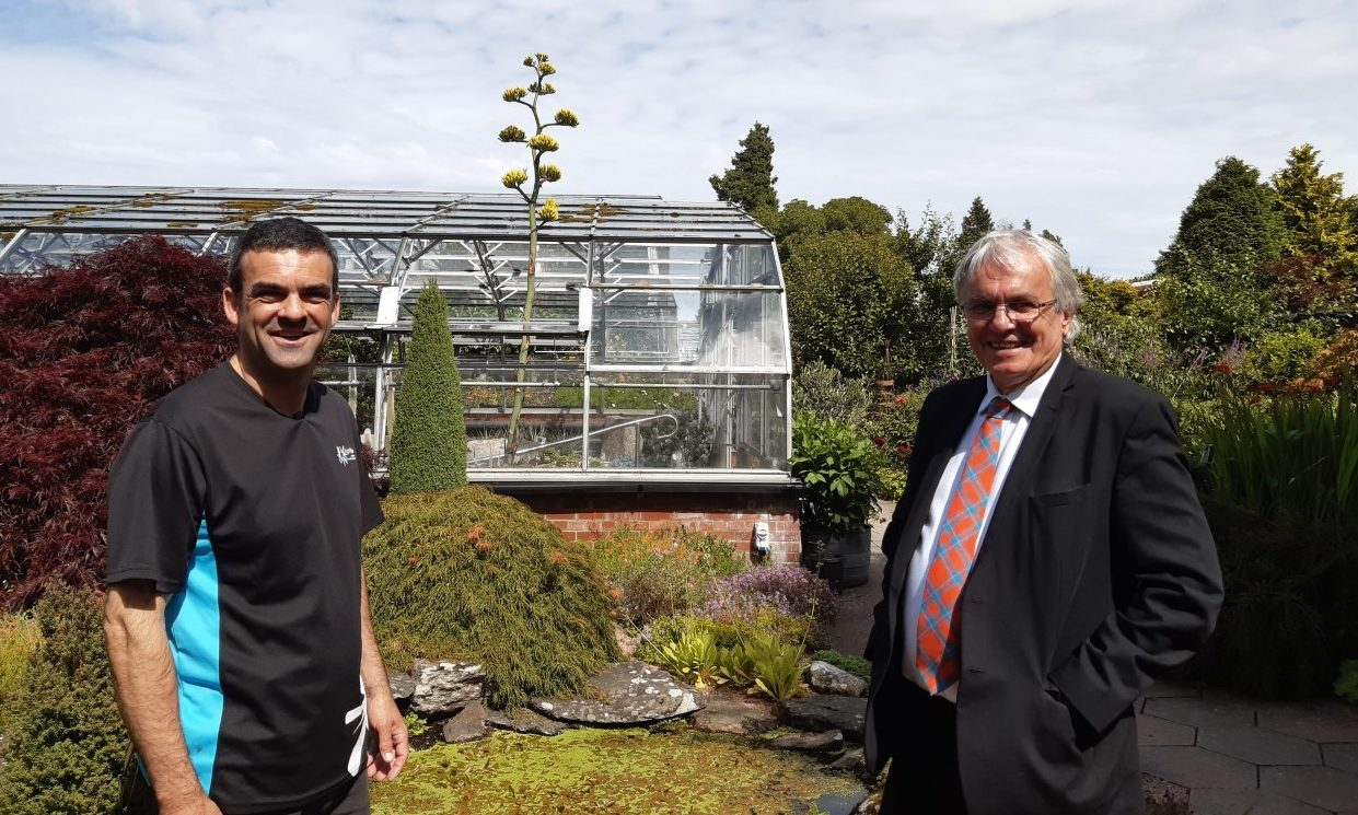 Inverness Botanic Gardens facility manager Ewan-Mackintosh-and-Councillor-Graham-Ross-