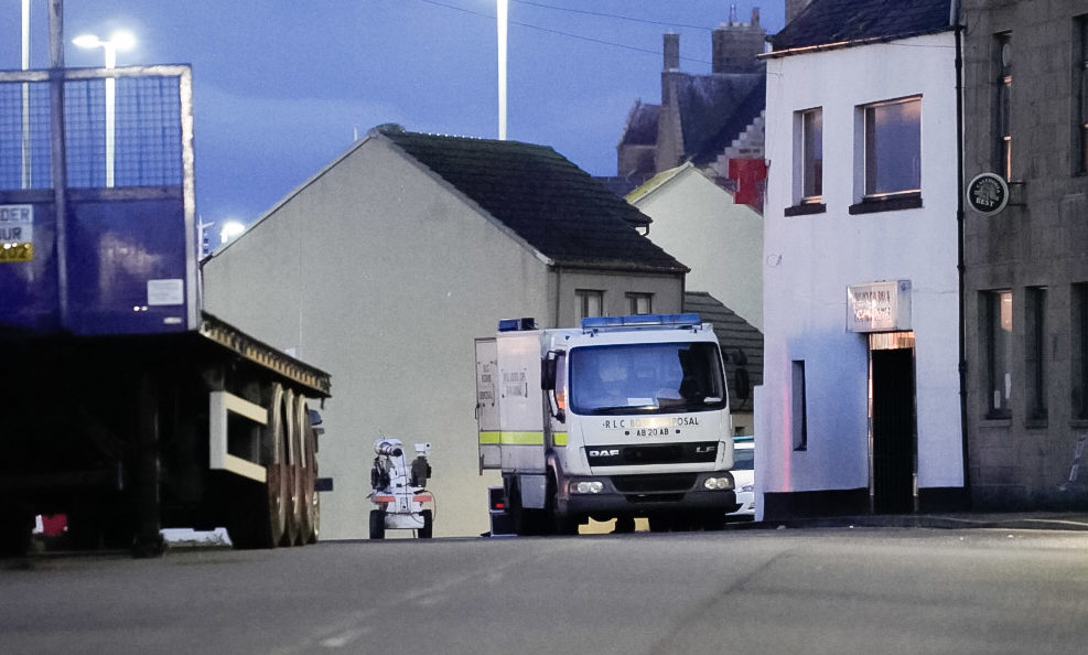 The scene in Fraserburgh. Picture by Jamie Ross.