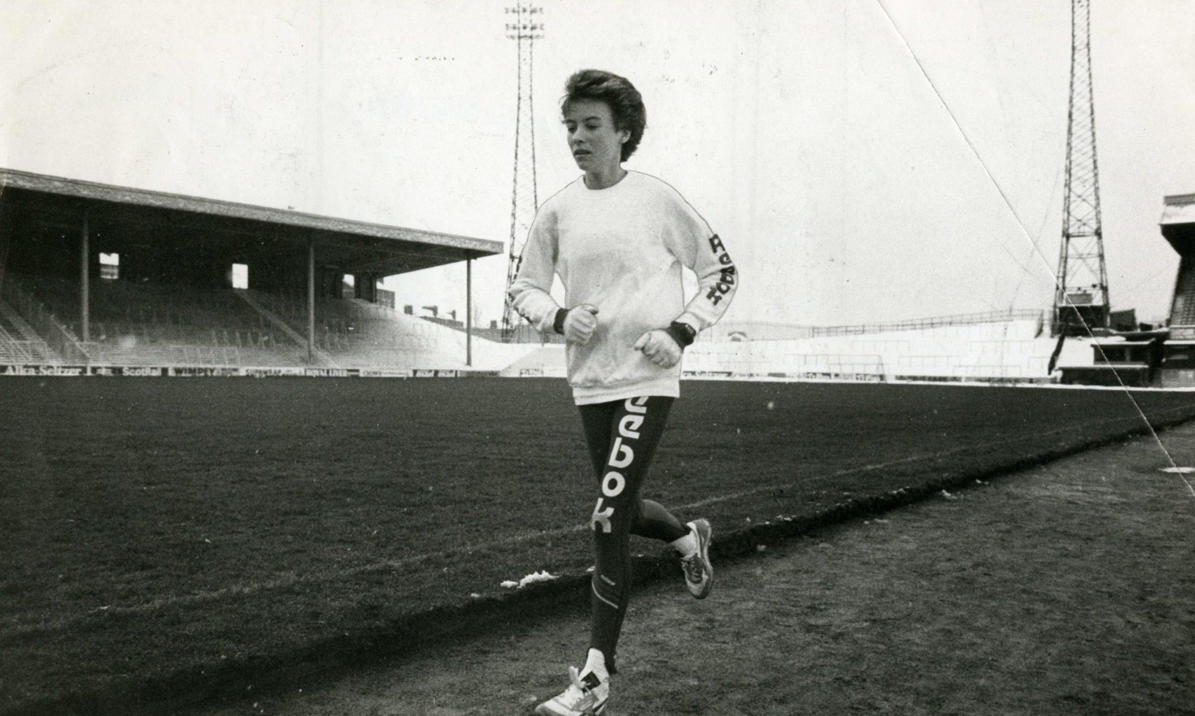 Athlete Liz Lynch (Liz McColgan) pictured during a training session.