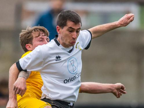 Clach midfielder Blair Lawrie