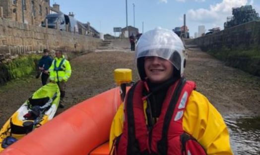Jamie Paterson is the newest member of Findhorn's lifeboat crew.