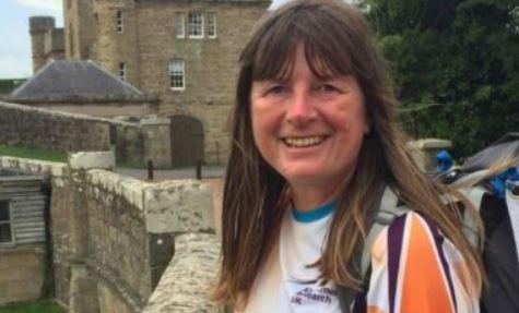 Long distance walker Karen Penny is raising money for Alzheimer's Research UK.