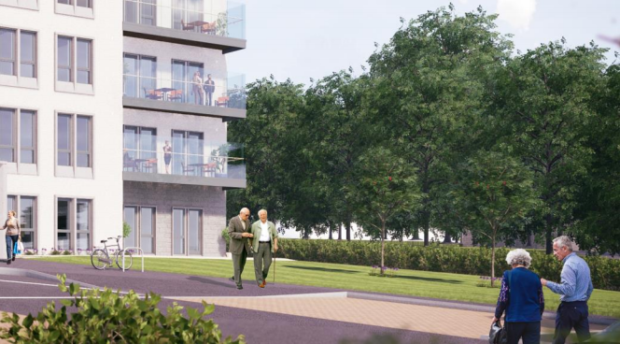 An Artist impression of the care home.