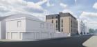 Concept art of the block of flats
