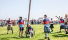David Dent tossing the caber