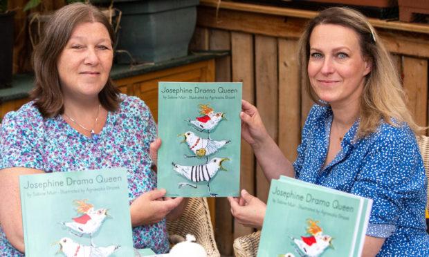 Author Sabine Muir, left, and illustrator Agnieszka Brozek, right
