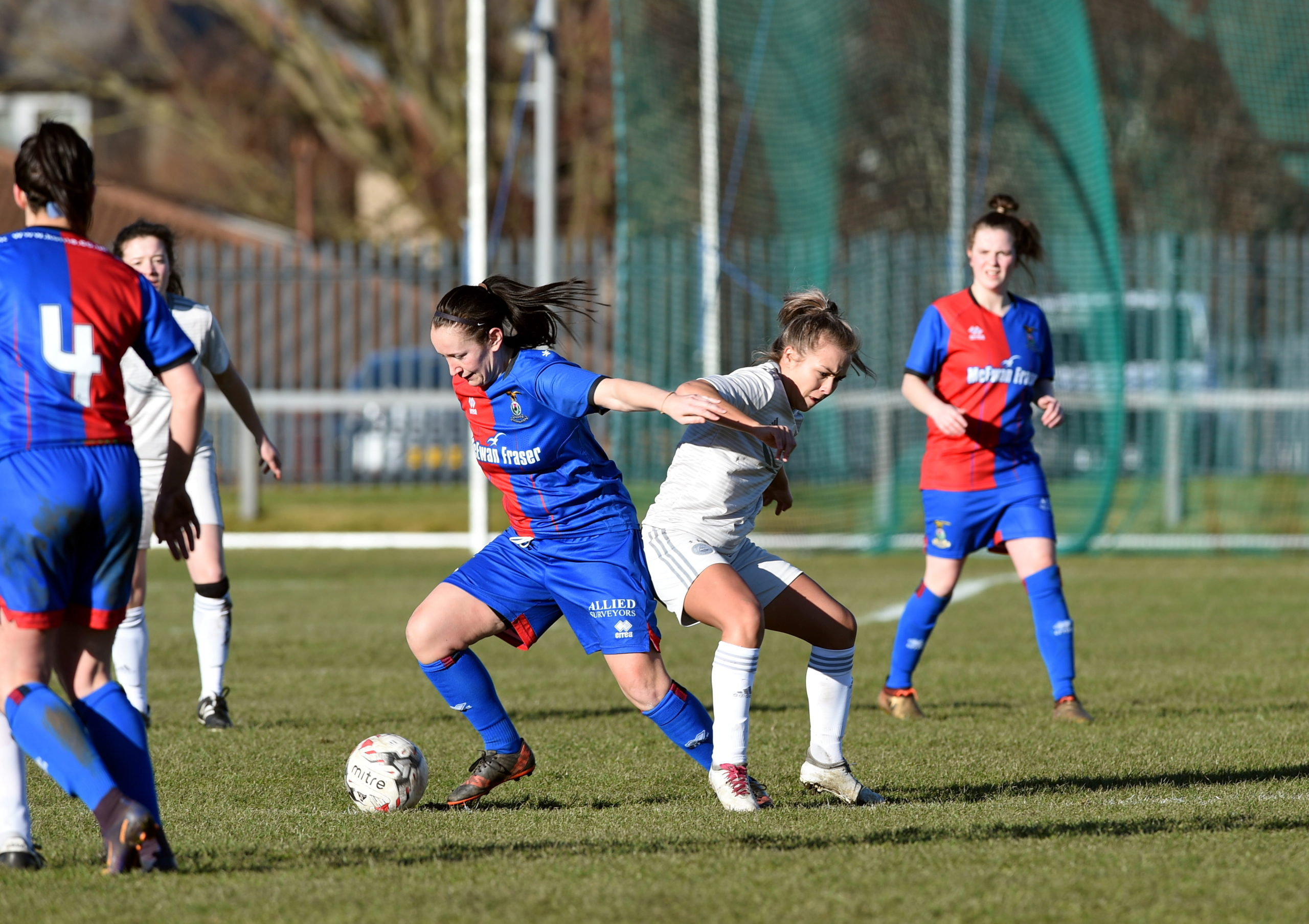Caley Thistle Ladies are one of the clubs to benefit from the donation