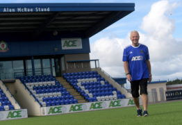 Ian Yule is going to be walking from Balmoral Stadium to Tannadice to raise money for Cove's crowdfunder to help raise cash for their legal fees as a result of Hearts/Partick Thistle's bid to deny them promotion. Picture by Kath Flannery