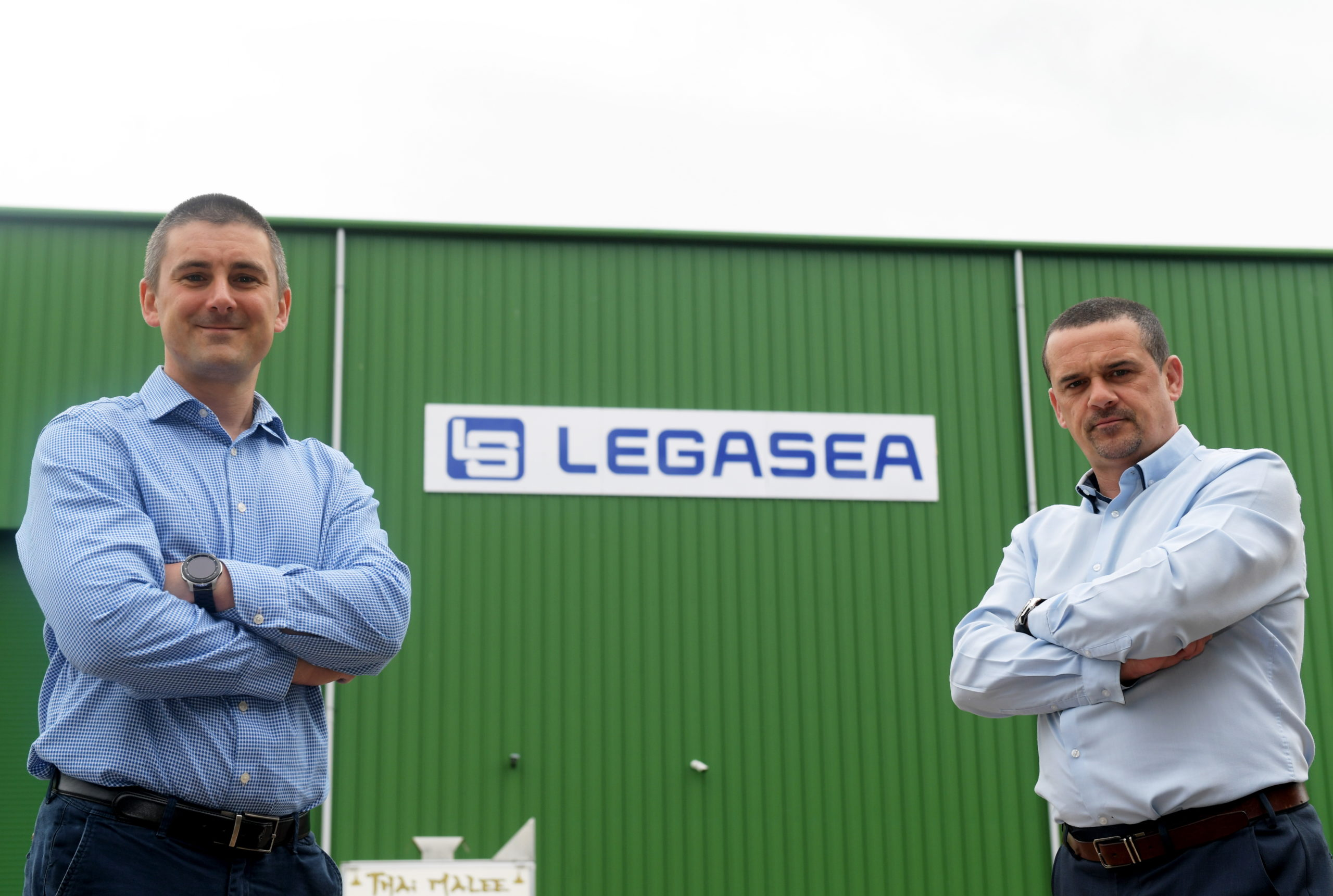 Birchmoss Plant & Storage, Echt.  Legasea have been nominated for national award. From left Ray Milne and Lewis Sim. CR0022679 13/07/20 Picture by KATH FLANNERY