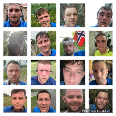 Players and staff at Stonehaven's Cowie Thistle AFC threw themselves into the 24-hour challenge to raise more than £4,000 for good causes.