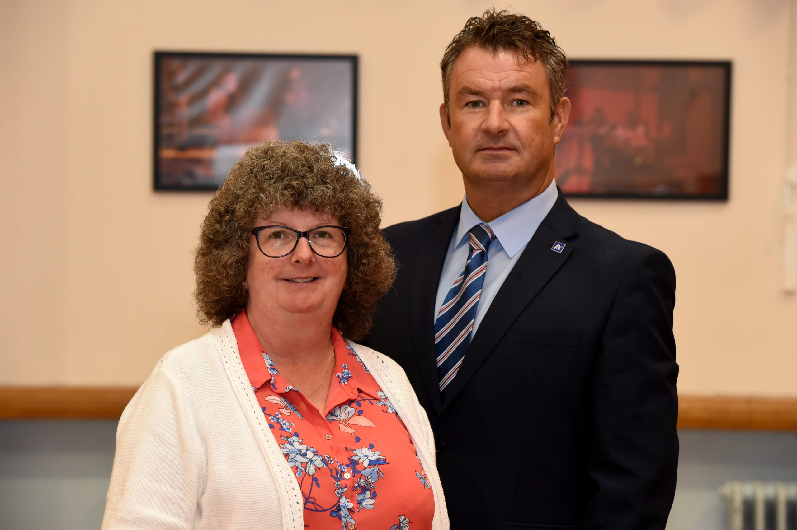 Picture of Councillor Gillian Owen and Vincent Docherty (Aberdeenshire Council's Education and Children's Services Committee chair and the council's Head of Education).