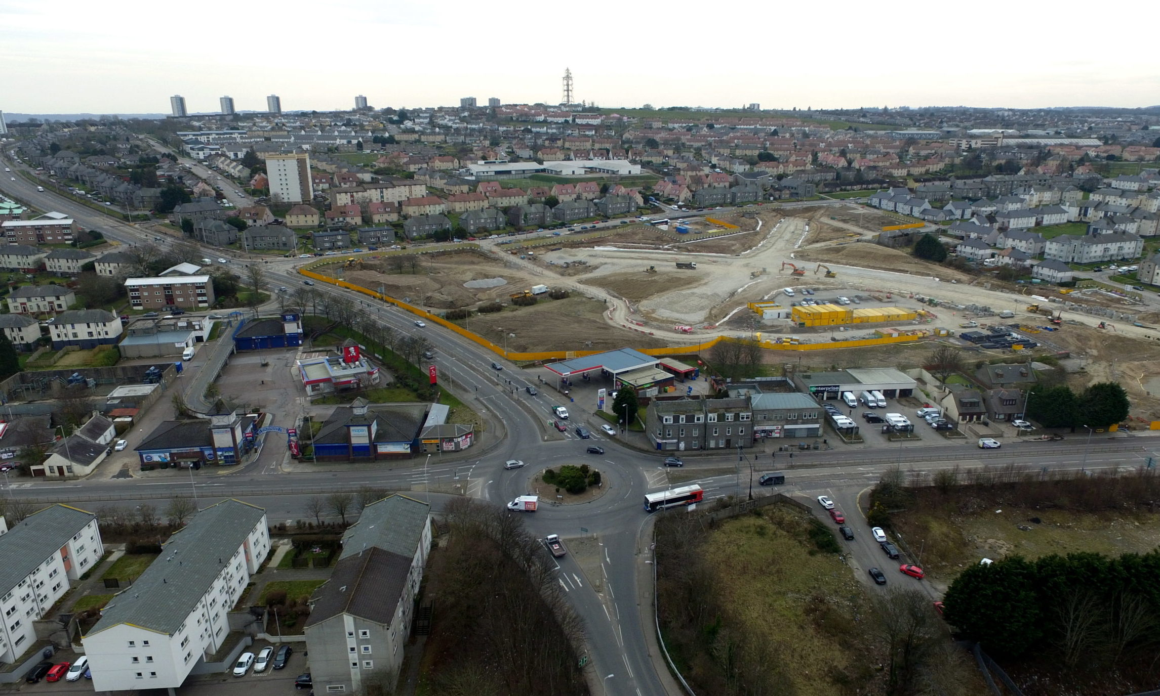 The Haudagain Roundabout. Picture by Kenny Elrick