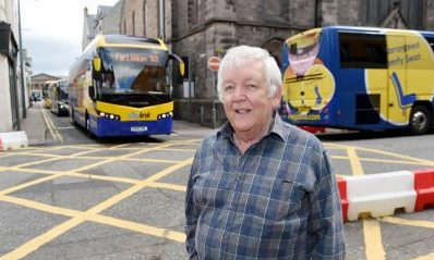 Inverness councillor Bill Boyd wants Margaret Street closed to buses to make life easier for pedestrians. Sandy McCook