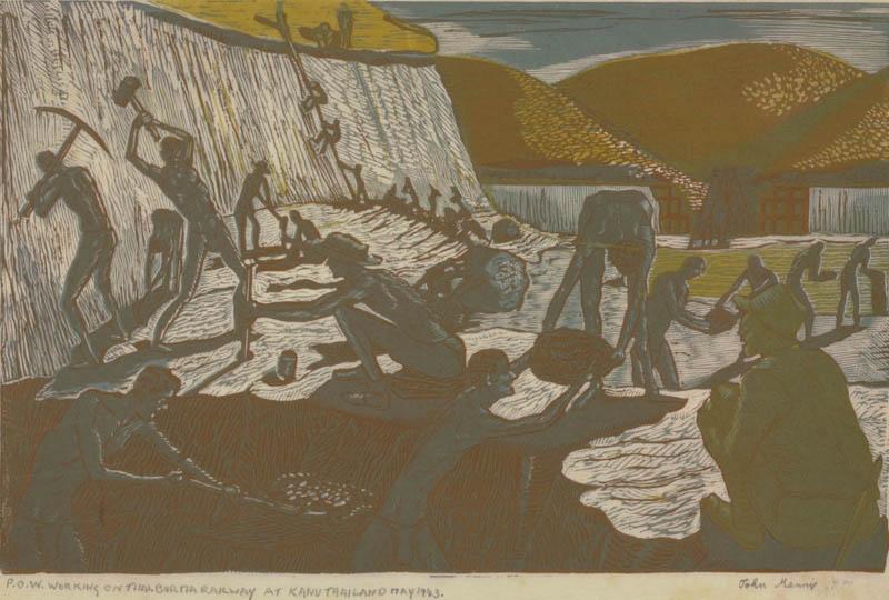 Aberdeen artist John Mennie portrayed the cruel treatment of his comrades in the Far East.