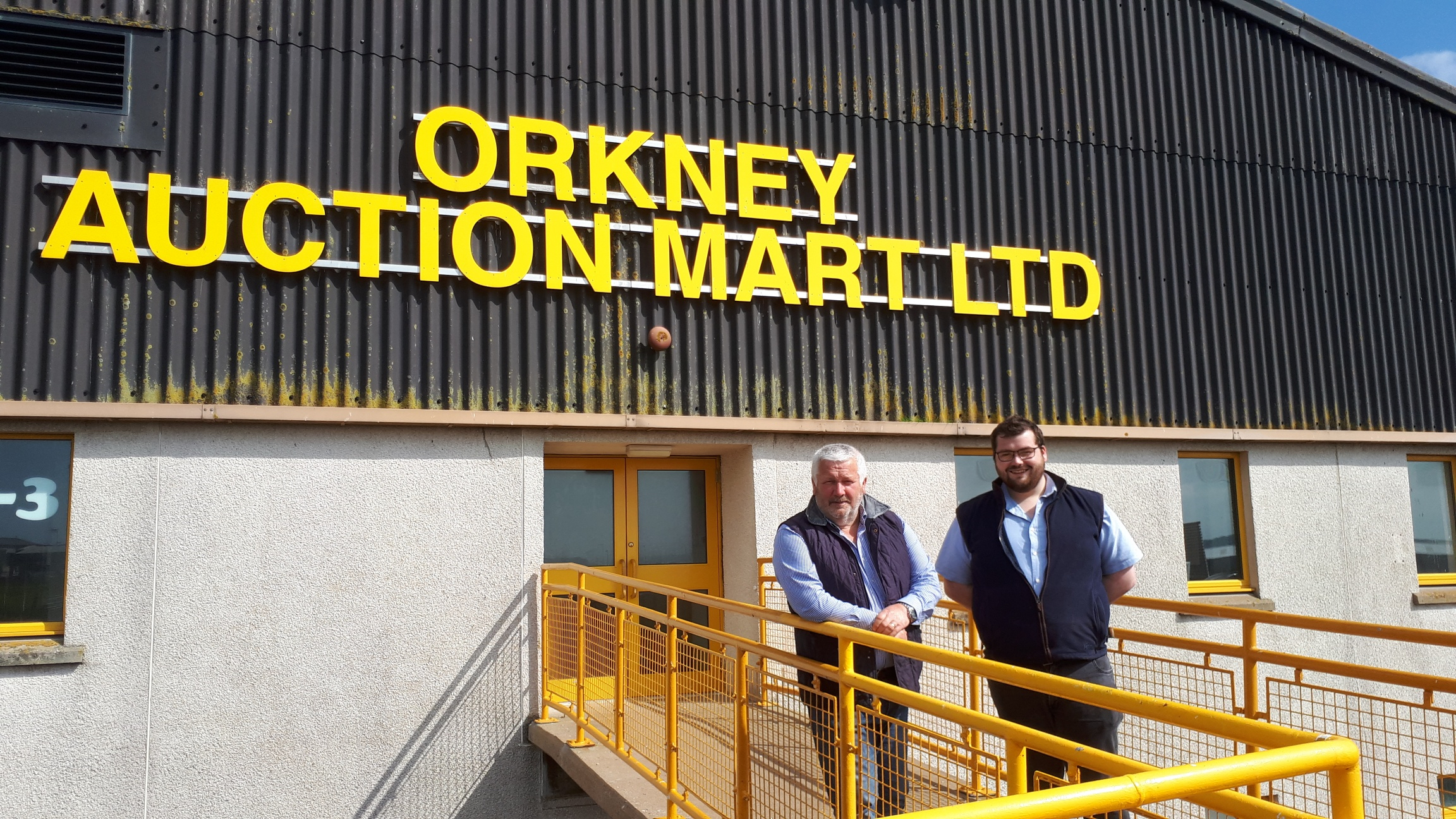 Jim Linklater, left, and Graham Low from Orkney Auction Mart.