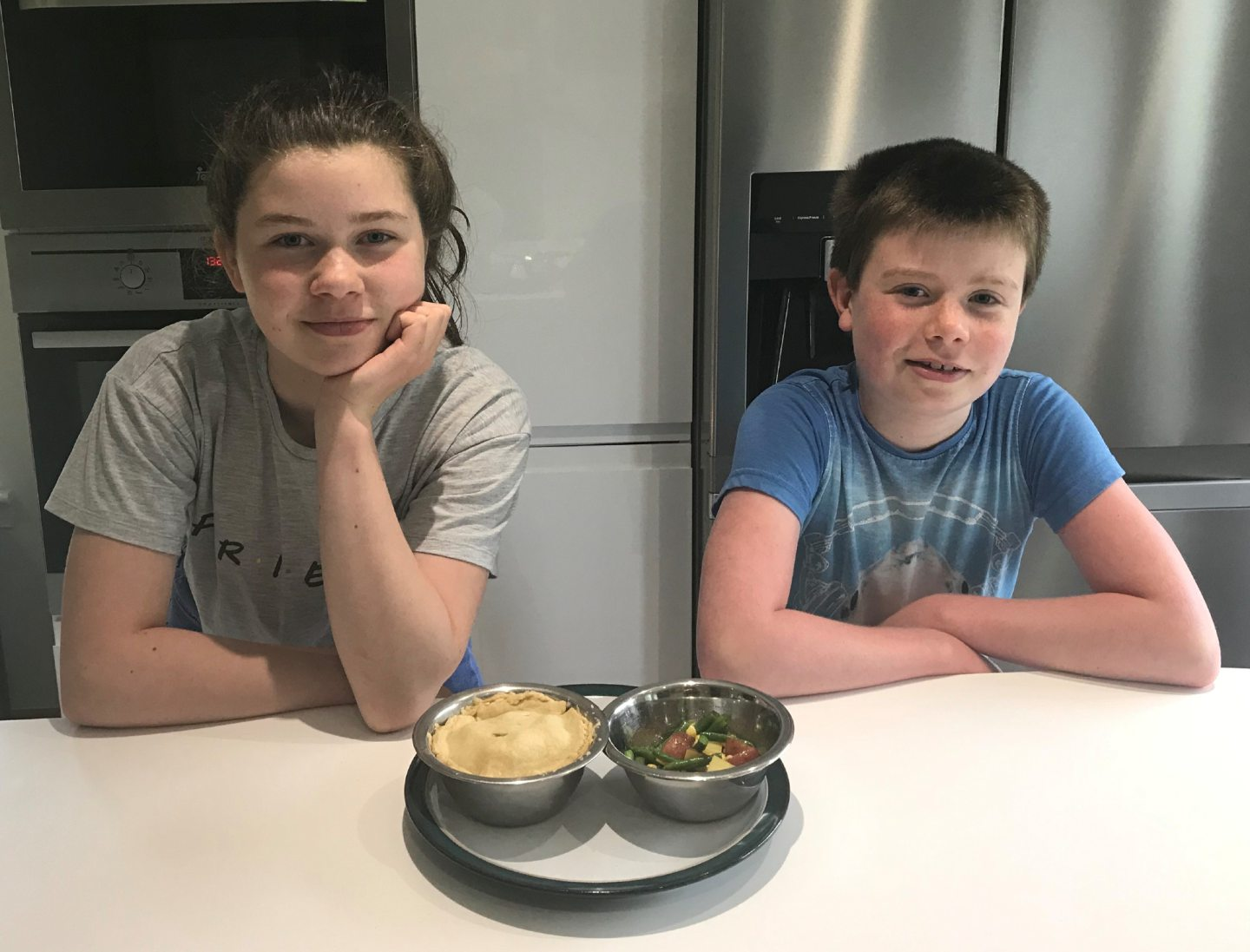L-r Beth Cartledge,12 and her brother Owen, 10.