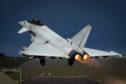 RAF Typhoon defending UK airspace.