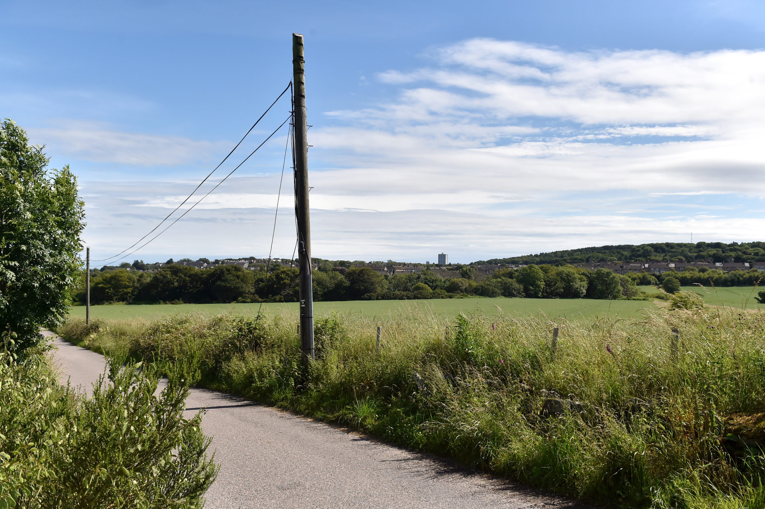 Looking towards the contentious development site on the border of Aberdeen and Aberdeensire.