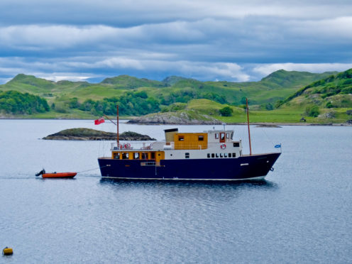 Designed especially for the Majestic Line, the MV Glen Etive was built to cruise in comfort around the Hebrides and the west coast