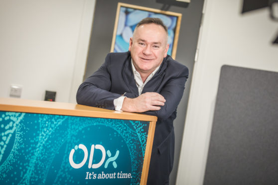 ODx chief executive, Giles Hamilton at the firms office's and labs in Inverness