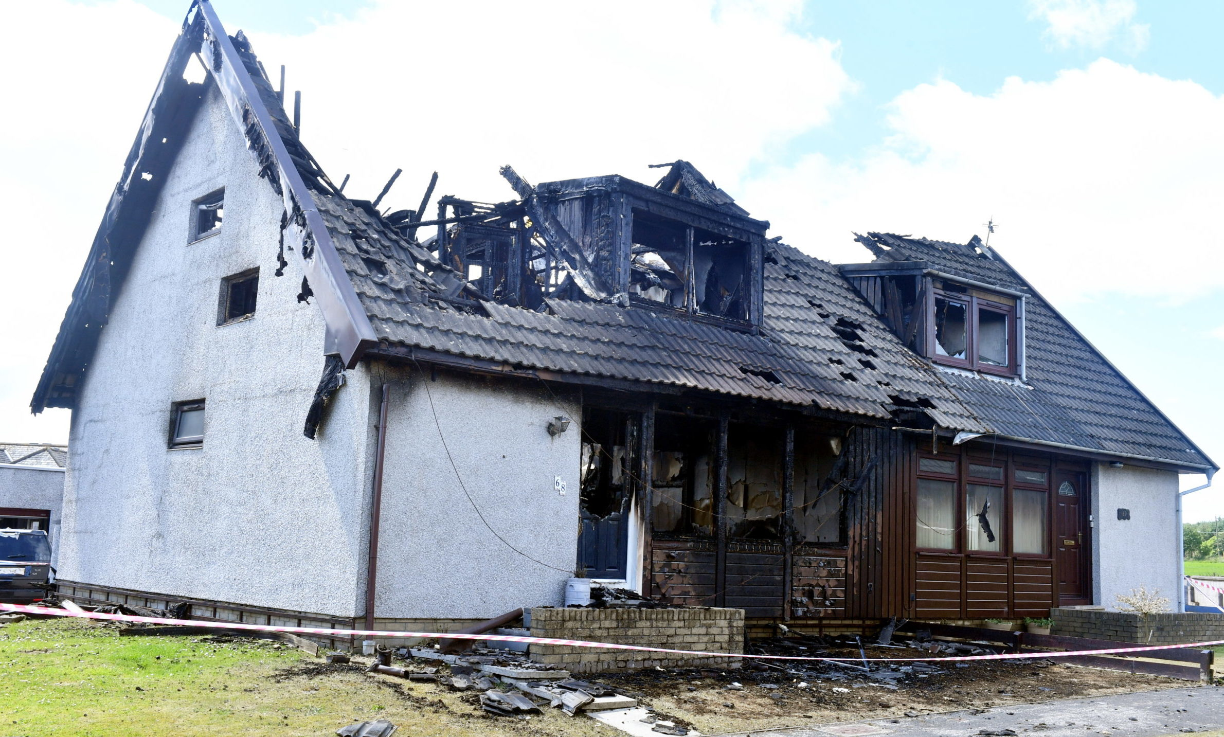 The aftermath of the fire in St Cyrus. Picture by Chris Sumner.
