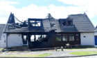 The house in Invergarry Park was badly damaged by a fire. Picture by Chris Sumner.