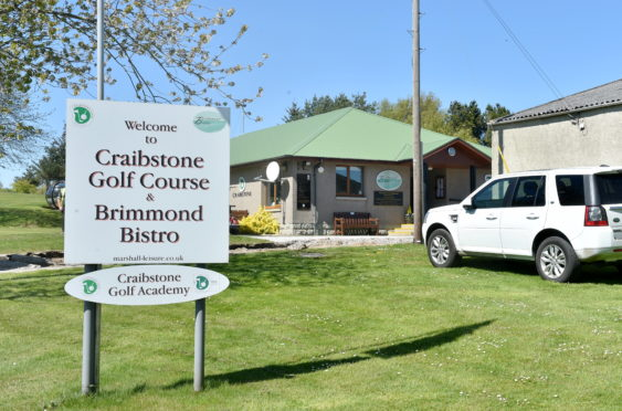 Pictured is a locator of Craibstone Golf Course and Brimmond Bistro, Bucksburn, Aberdeen. Pictured 07/05/2020 Picture by DARRELL BENNS   CR0021266