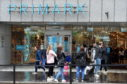 Shoppers leaving Primark on Union Street, Aberdeen. Picture by Darrell Benns.