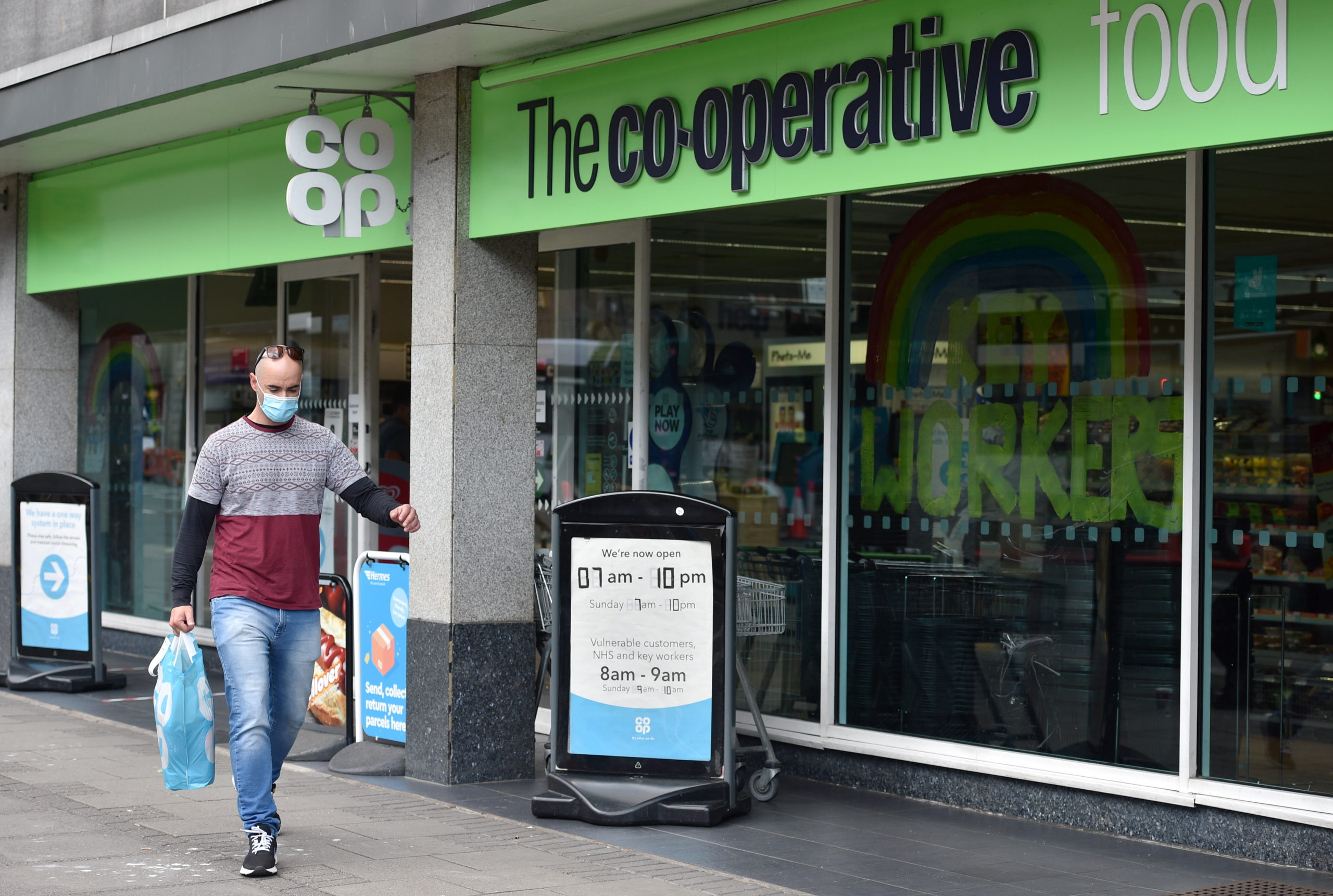Shoppers in Scotland have to wear face masks in all shops from today as Coronavirus laws come into place.