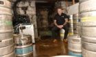 Laird Parker in the cellar of The Drouthy Laird, Inverurie.