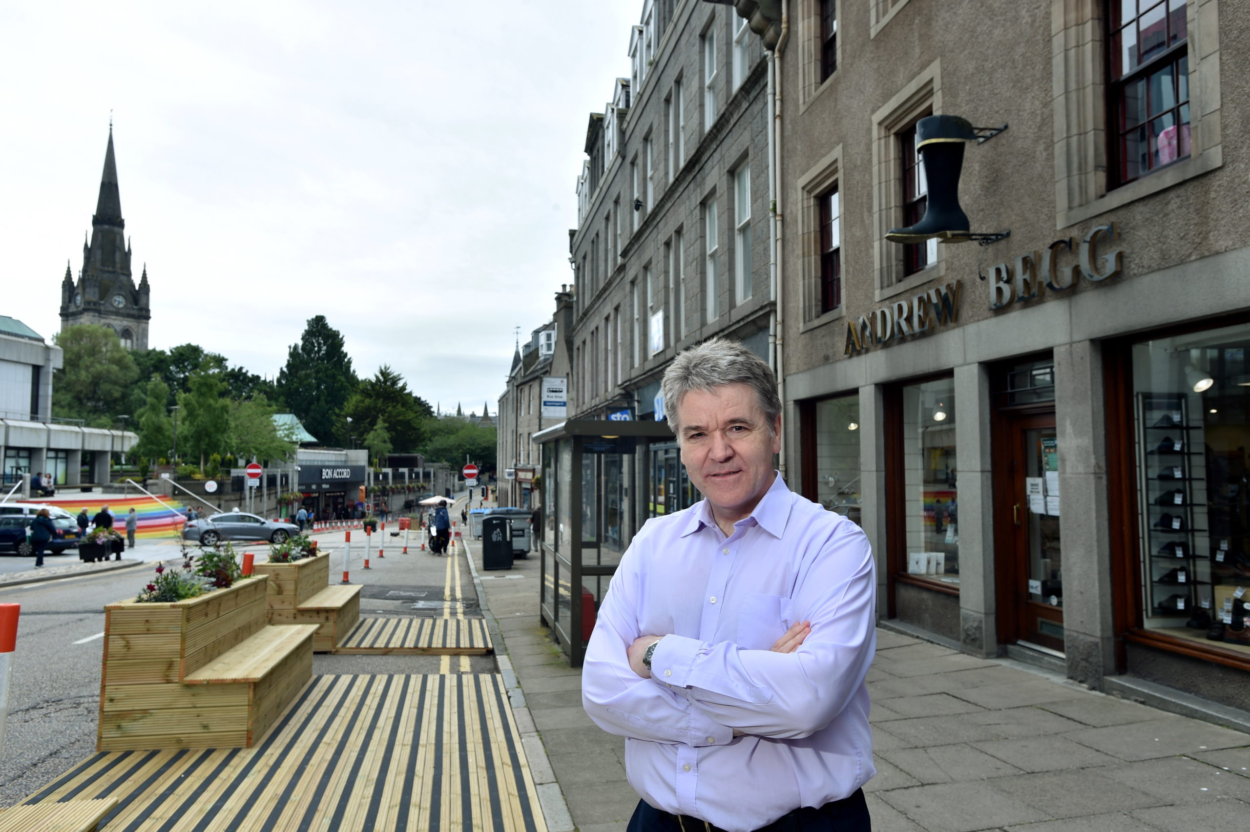 Andrew Begg of Andrew Begg Shoes, on Aberdeen's Upperkirkgate.  Picture by Darrell Benns.