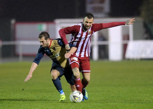 Gary McGowan in action for Formartine United