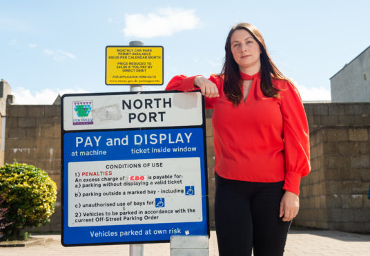 Moray Chamber of Commerce chief executive Sarah Medcraf co-signed a letter urging the council to reconsider their position on reinstating car parking charges. Picture by Jason Hedges.