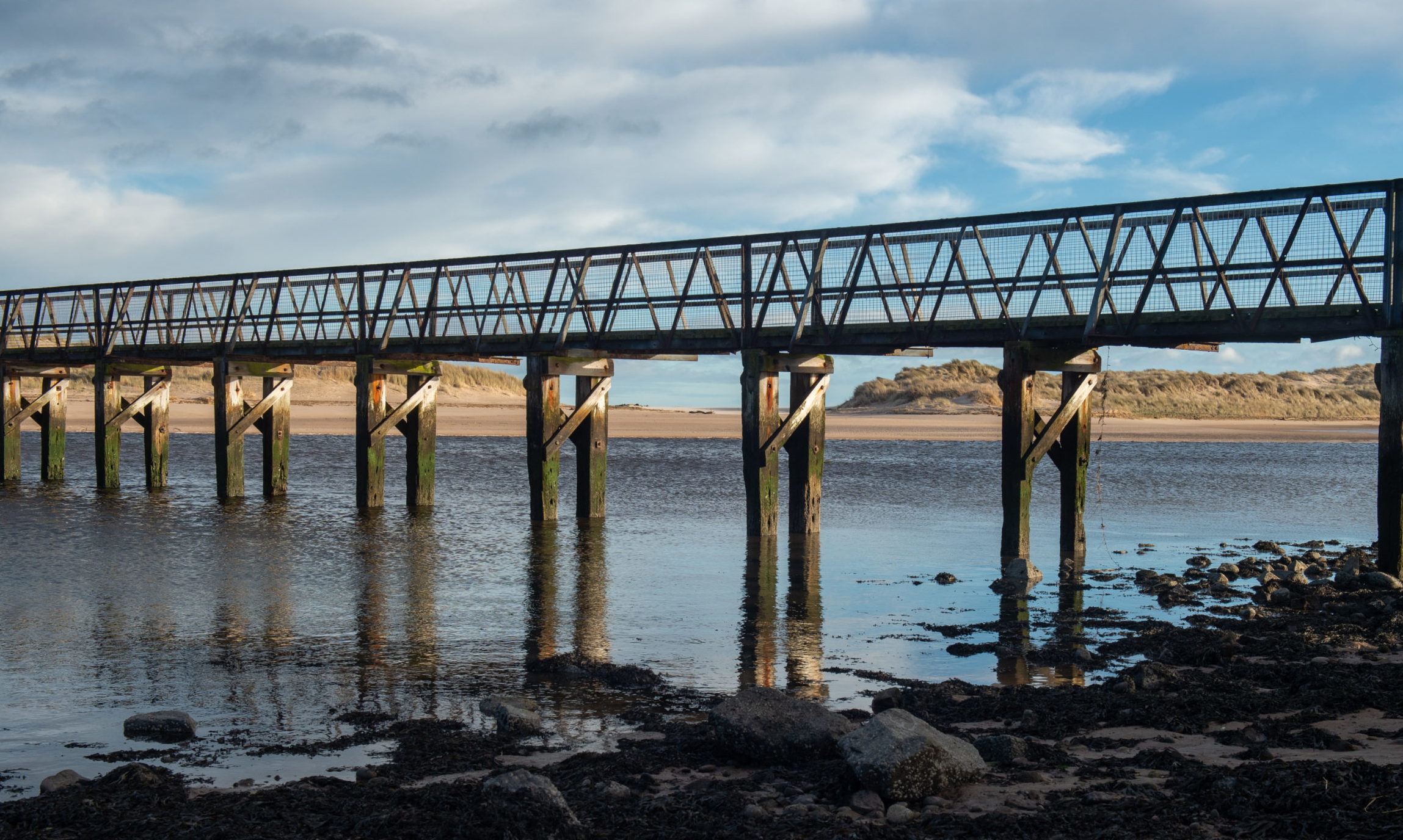 East Beach bridge in Lossiemouth. Picture by Jason Hedges.